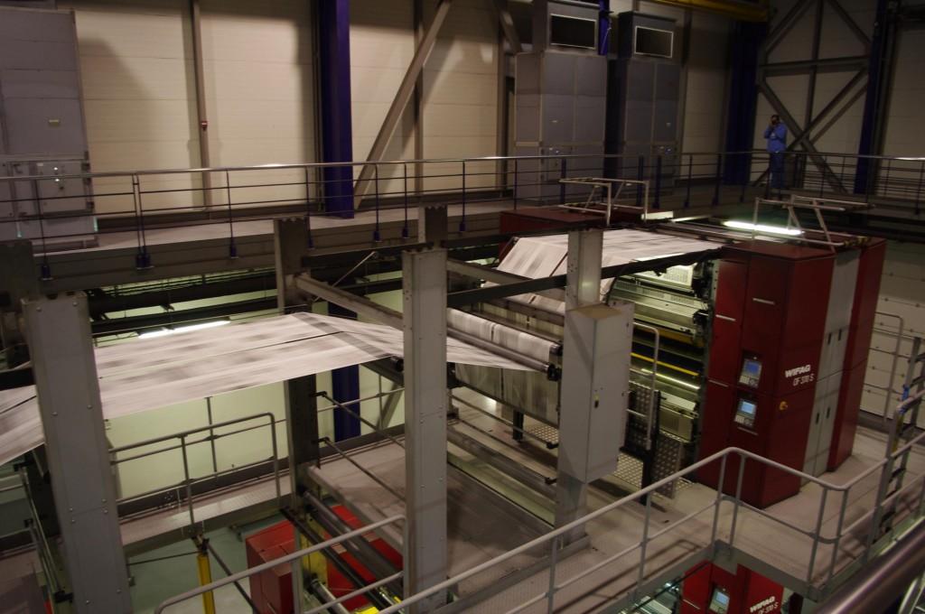 Proceso de impresión en la planta de LocalPrint / fotografía de Juan Luis Estrada
