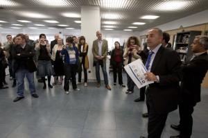 Una veintena de periodistas europeos visitan el Club Información / Rafael Arjones