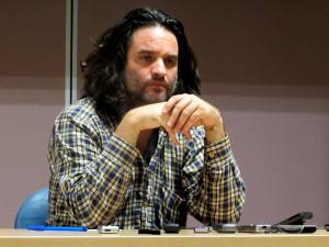 Pere Rusiñol debate sobre el panorama mediático y político actual con los alumnos de Periodismo UMH.