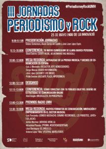 Cartel de las III Jornadas de Periodismo y Rock